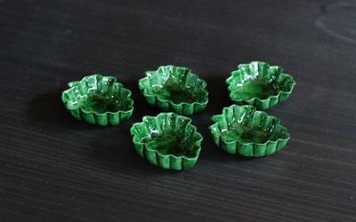 交趾菊葉形小皿