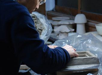 石膏流し型ー原型制作