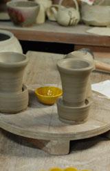交趾菊形小皿ー型制作