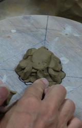 菊葉形小皿ー型制作