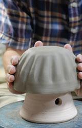 交趾菊形鉢ー型打ち