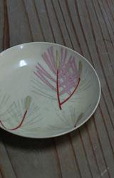 京焼 色絵若松文4寸皿