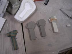 結び紋箸置き制作工程1