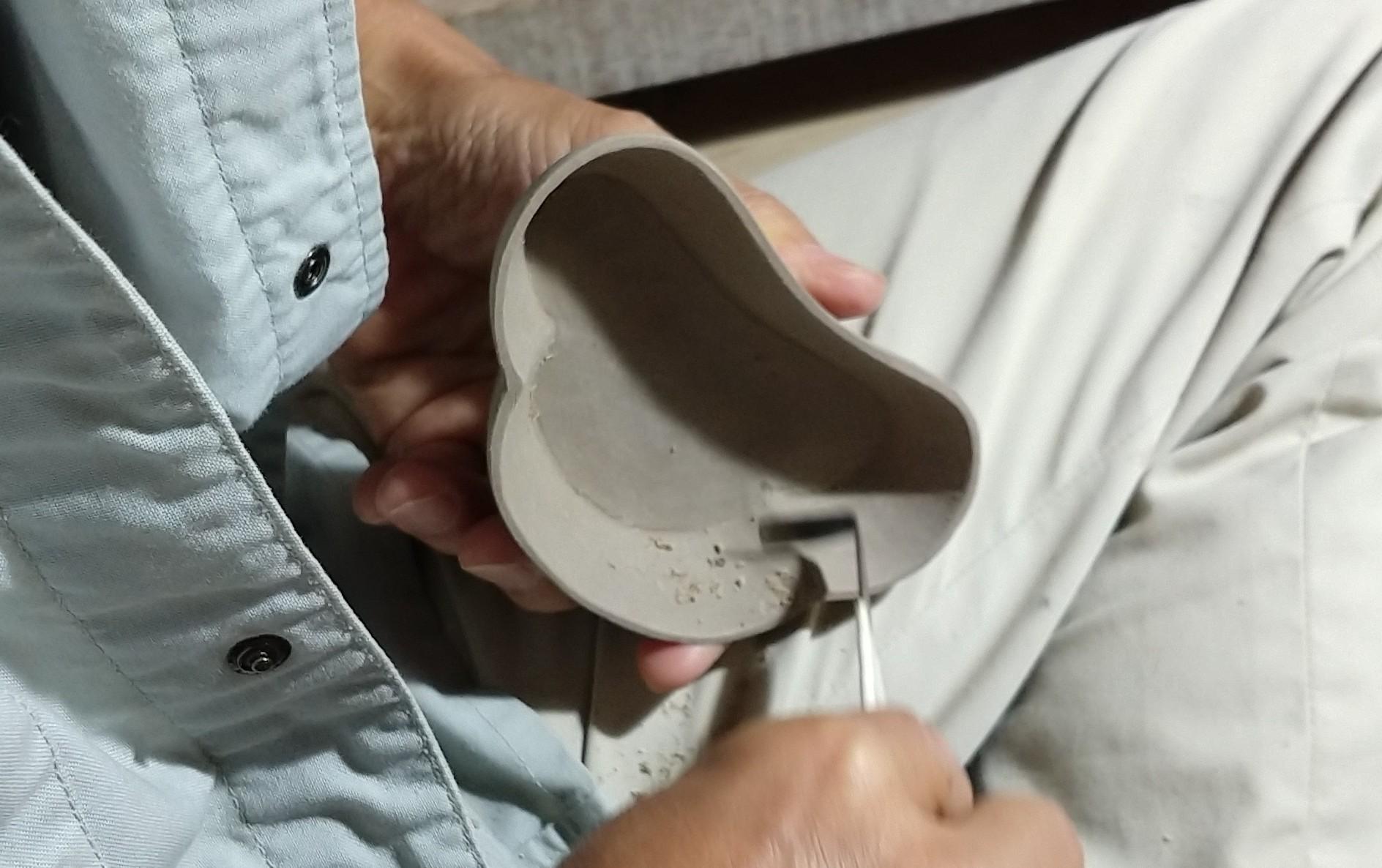 交趾松小皿-削り仕上げ