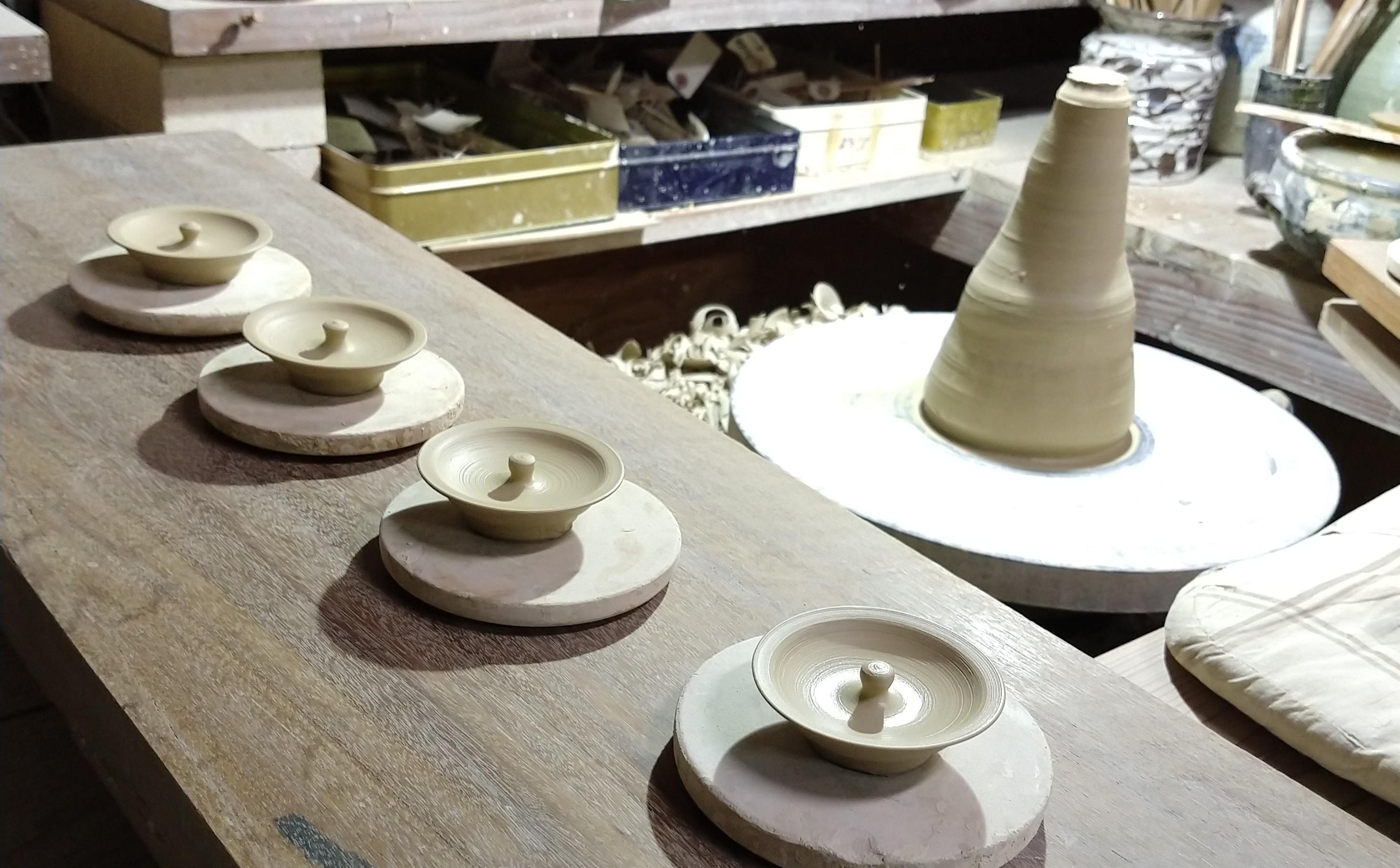 錫銚子陶蓋ー制作