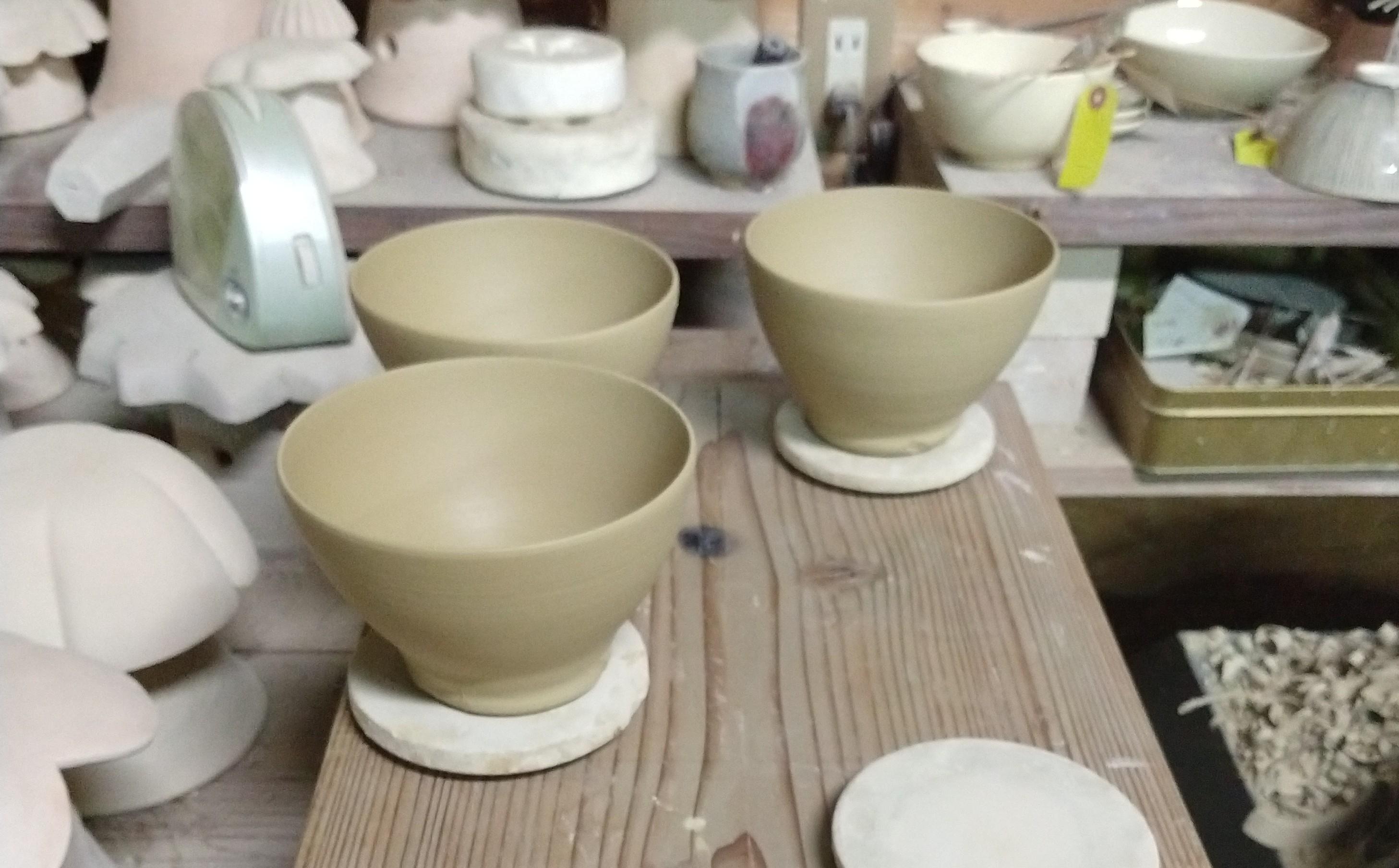 藪に鶯茶碗−ろくろ制作