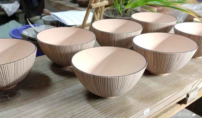 十草紋飯碗