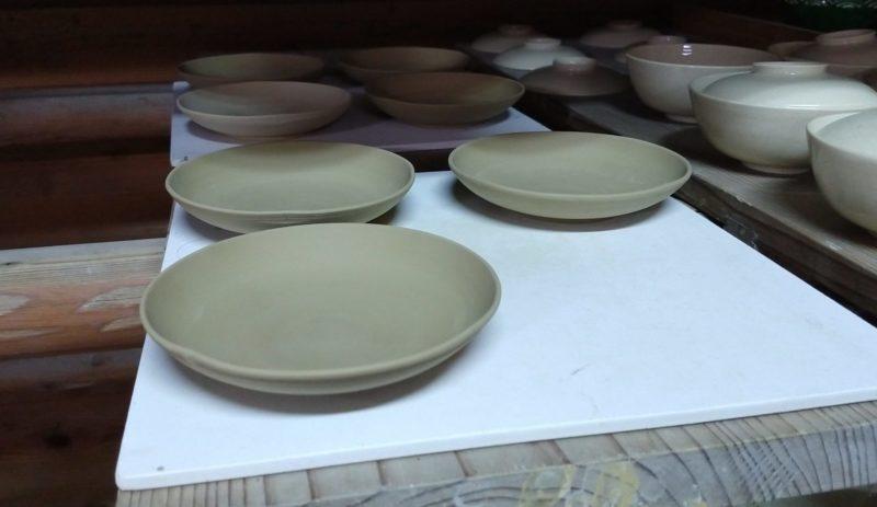 色絵撫子紋小皿